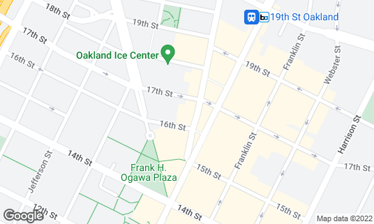 Map of Cafe Van Kleef at 1621 Telegraph Ave Oakland, CA