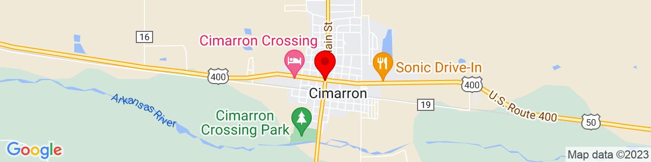 Google Map of 37.806666666666665, -100.34833333333333