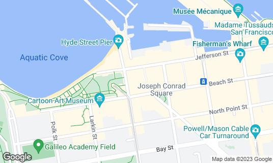 Map of Argonaut Hotel at 495 Jefferson St San Francisco, CA