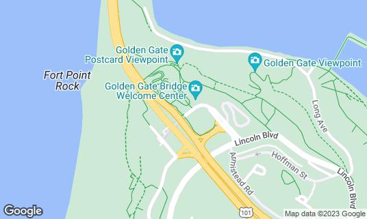 Map of Bridge Cafe at Golden Gate Bridge Plaza San Francisco, CA