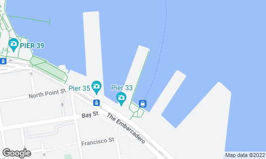 Map of Pier 33 at The Embarcadero San Francisco, CA