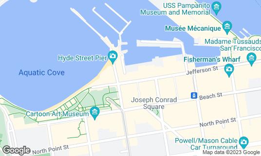 Map of Capurro's at 498 Jefferson St San Francisco, CA