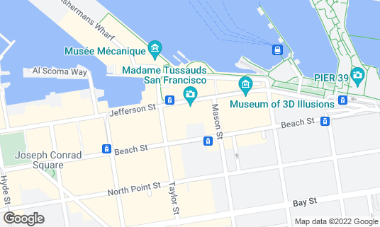Map of Madame Tussauds at 145 Jefferson St Ste 600 San Francisco, CA