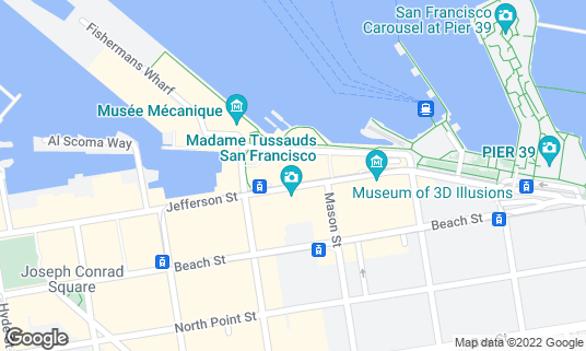 Map of Bistro Boudin at 160 Jefferson St San Francisco, CA