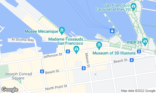 Map of Fisherman's Wharf at 2801 Leavenworth St Fl 2 B-16 San Francisco, CA
