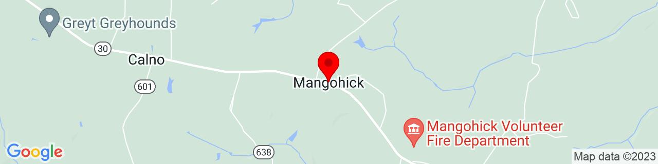 Google Map of 37.8101405, -77.27275589999999