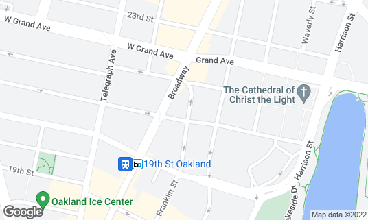 Map of Club 21 at 2111 Franklin St Oakland, CA