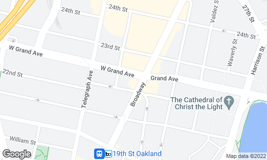 Map of Luka's Taproom & Lounge at 2221 Broadway Oakland, CA
