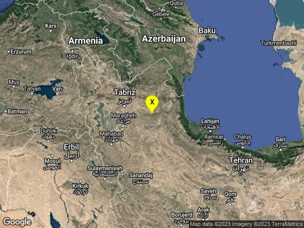 earthquake 52km NE of Hashtrud, Iran