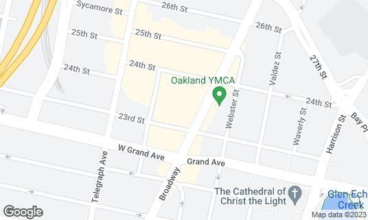 Map of Drake's Dealership at 2325 Broadway Auto Row Oakland, CA