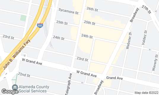 Map of Stork Club at 2330 Telegraph Ave Oakland, CA