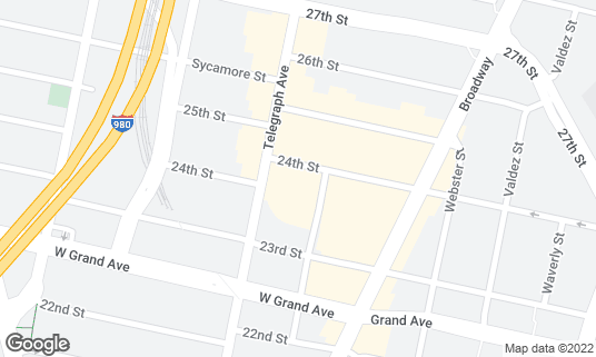 Map of KP Asian Market at 2370 Telegraph Ave Oakland, CA