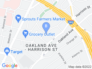 Map of Mister Beevers Paws  Claws Dog Boarding options in Oakland | Boarding
