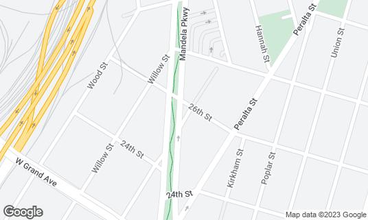 Map of Brown Sugar Kitchen at 2534 Mandela Pkwy Oakland, CA