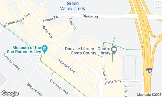 Map of Bridges Restaurant & Bar at 44 Church St Danville, CA