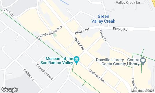 Map of Meenar Music Club at 349 Hartz Ave Danville, CA