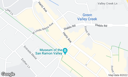 Map of Revel Kitchen & Bar at 331 Hartz Ave Danville, CA