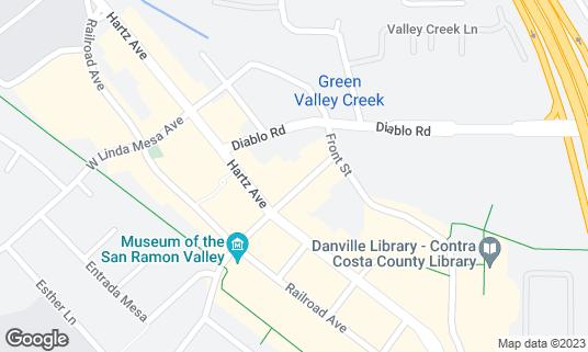 Map of McGah's Pub & Pianos at 148 E Prospect Ave Danville, CA