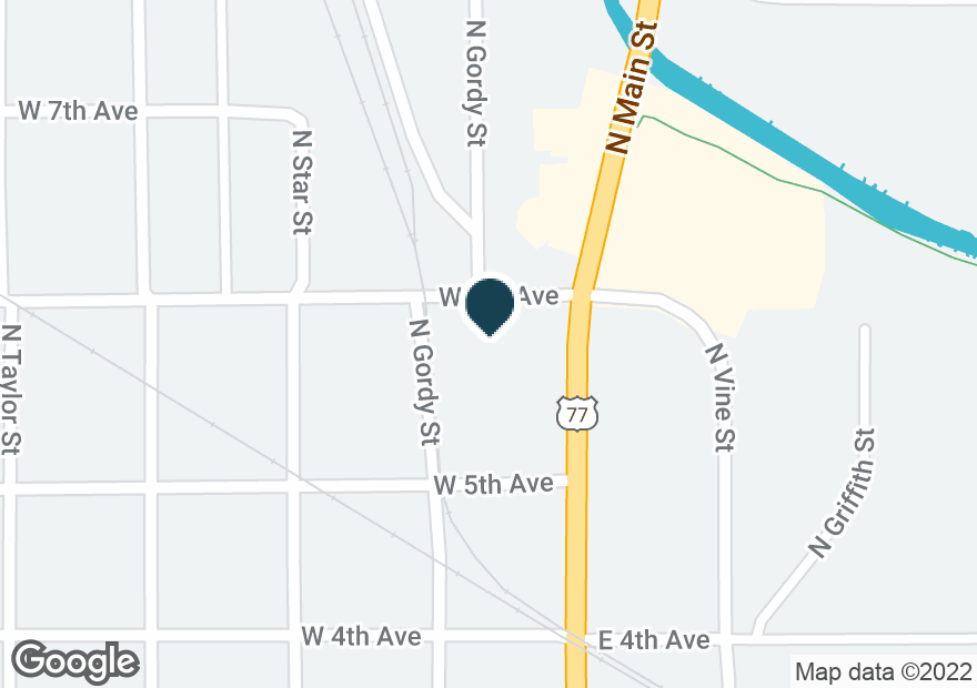 Google Map of119 W 6TH AVE