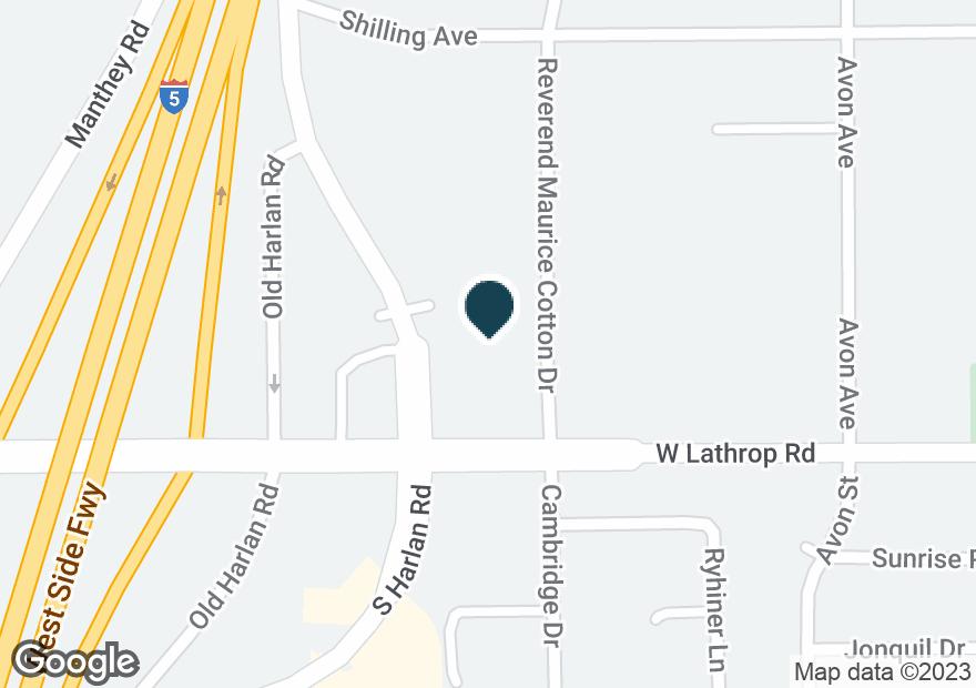 Google Map of14780 S HARLAN RD