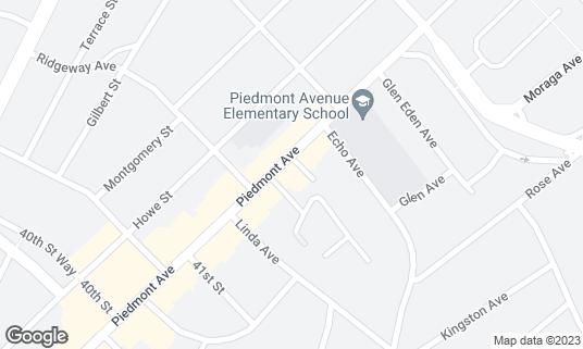 Map of Fentons Creamery & Restaurant at 4226 Piedmont Ave Oakland, CA