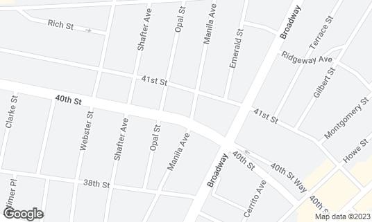 Map of Bierhaus at 360 40th St Oakland, CA