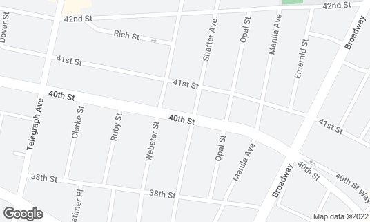 Map of Homeroom at 400 40th St Oakland, CA