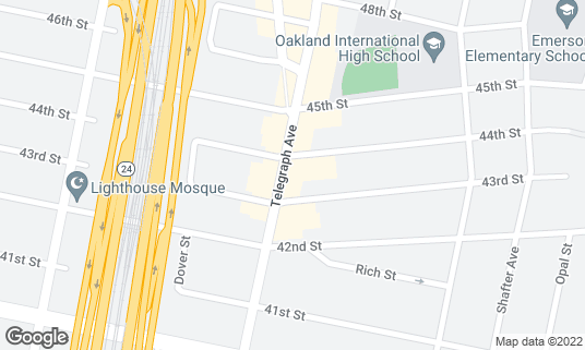 Map of Azit at 4390 Telegraph Ave Ste A Oakland, CA