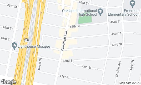 Map of Koryo Ja Jang at 4390 Telegraph Ave Ste B Oakland, CA
