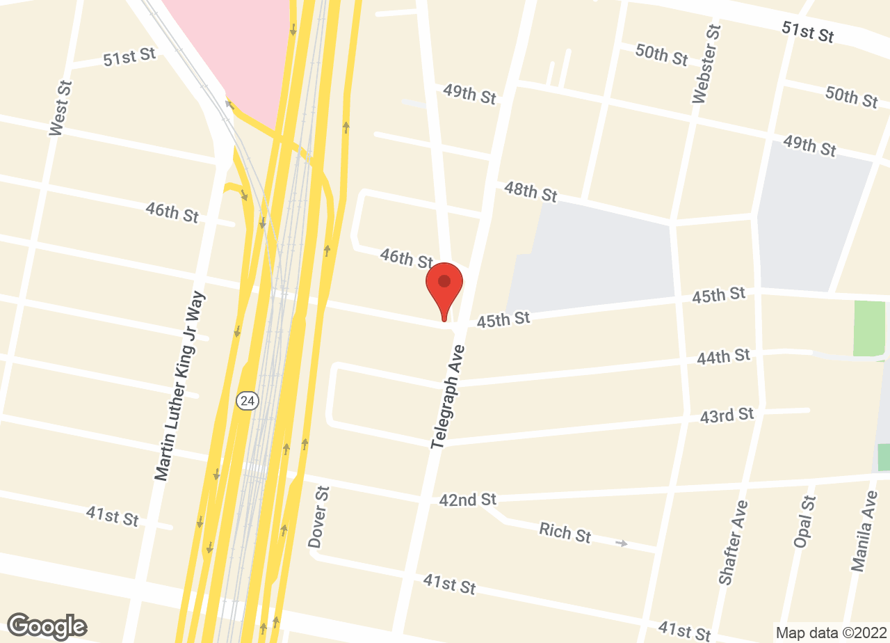 Google Map of VCA Bay Area Animal Hospital