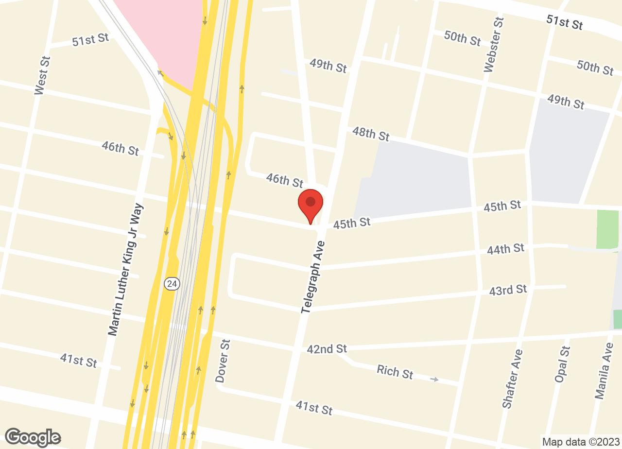 Google Map of VCA Bay Area Animal Hospital