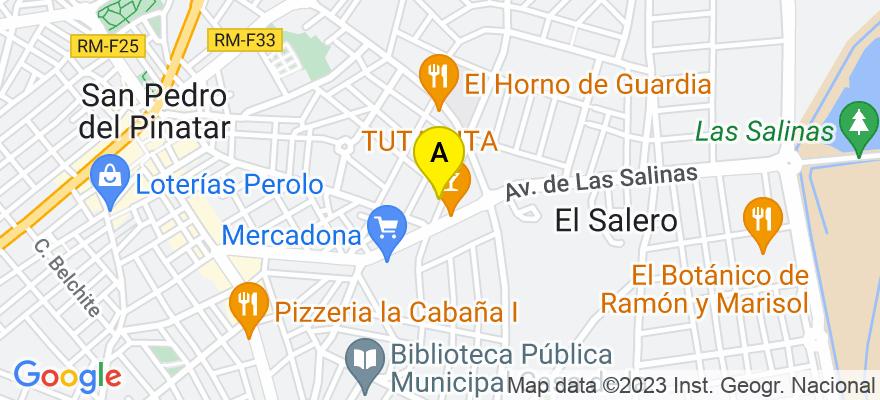 situacion en el mapa de . Direccion: C/ Blanca 5 A, 30740 San Pedro del Pinatar. Murcia