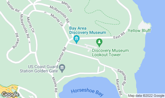 Map of Bay Area Discovery Museum at 557 McReynolds Rd Sausalito, CA