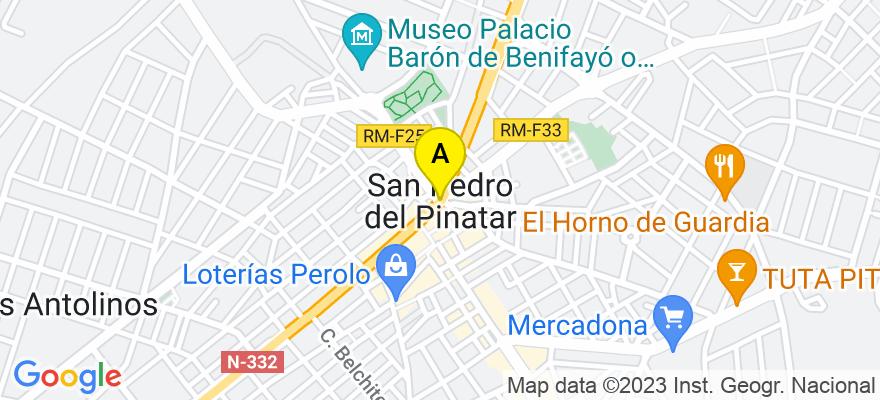 situacion en el mapa de . Direccion: C/ VICTOR PRADERA Nº 7, 30740 San Pedro del Pinatar. Murcia