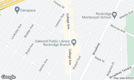 Map of Belotti Ristorante E Bottega at 5403 College Ave Oakland, CA