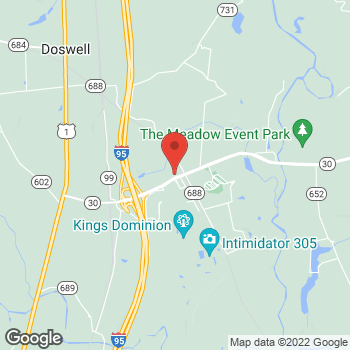 Map of Burger King at 10142 Kings Dominion Blvd, Doswell, VA 23047