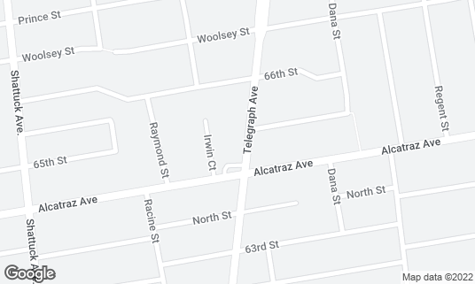 Map of Café Colucci at 6427 Telegraph Ave Oakland, CA