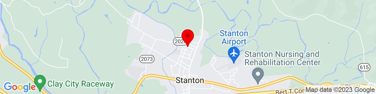Google Map of 37.8532827, -83.8588687