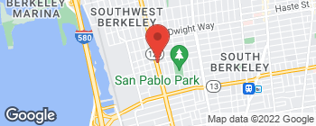 Map of 2717 San Pablo Ave in Berkeley