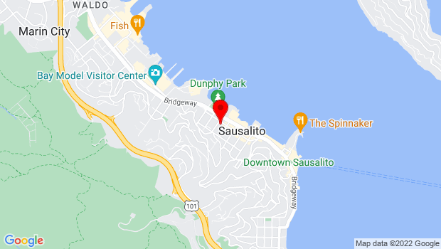 Google Map of 333 Caledonia St., Sausalito, CA 94965