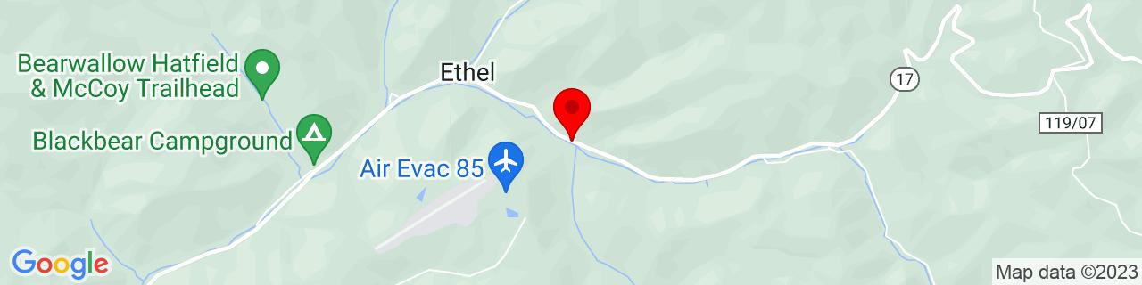 Google Map of 37.86122, -81.90234