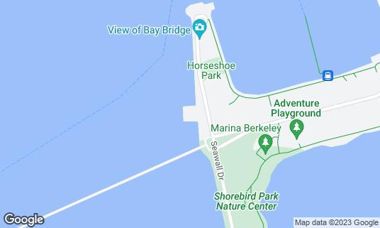 Map of Skates on the Bay at 100 Seawall Dr Berkeley, CA
