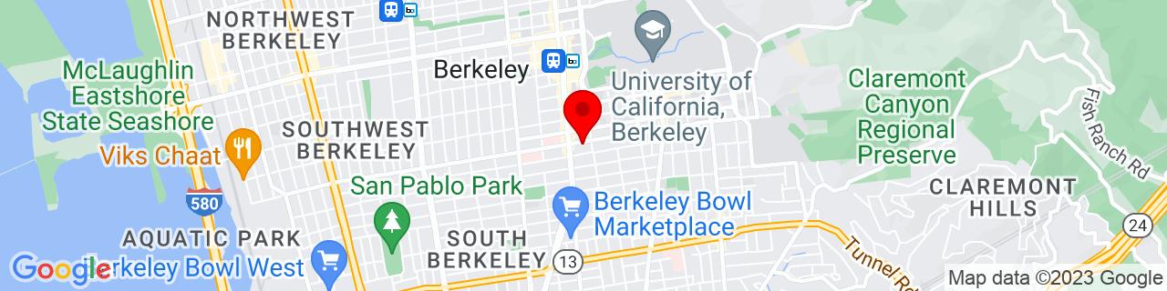 Google Map of 37.8639441, -122.2660652