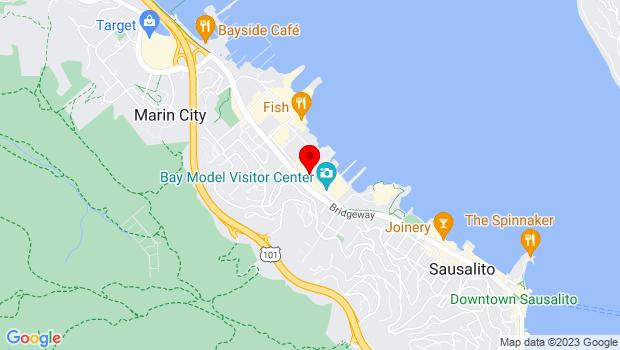 Google Map of 2200 Marinship Way, Sausalito, CA 94965