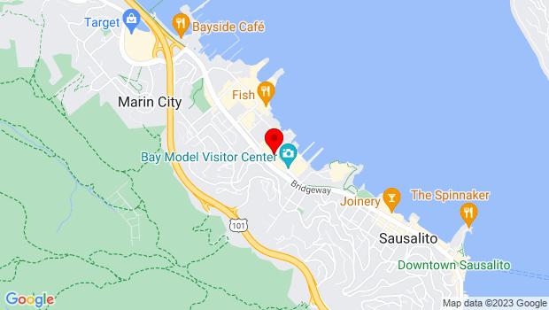Google Map of Testa St. & Marinship Way, Sausalito, CA 94965