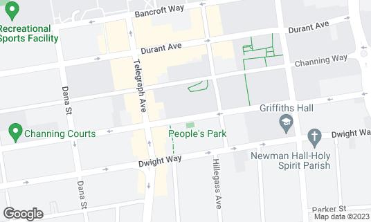 Map of Anna Head Alumnae Hall at 2537 Haste St Berkeley, CA