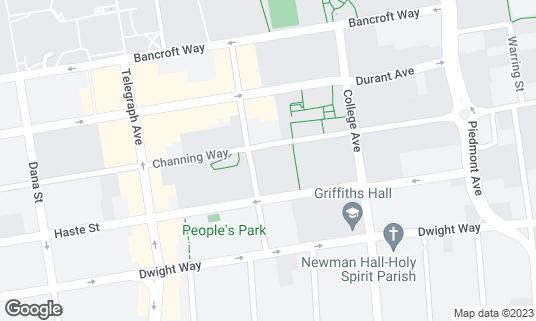 Map of Crossroads at 2415 Bowditch St Berkeley, CA