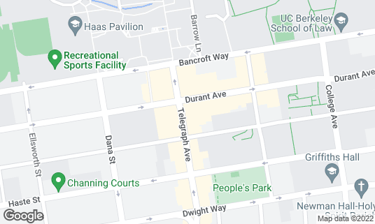 Map of Pappy's Grill and Sports Bar at 2367 Telegraph Ave Berkeley, CA