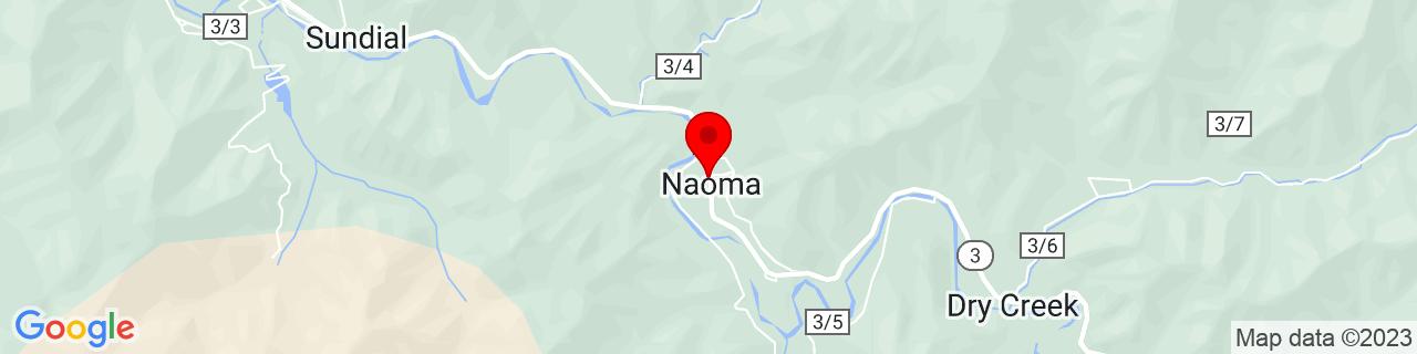 Google Map of 37.86761, -81.4873303
