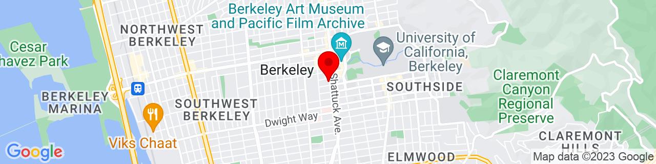 Google Map of 37.8679631, -122.2686679